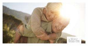 Happy elderly couple enjoying retirement
