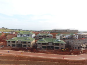 Frail Care Centre Construction progress for Mount Edgecombe Retirement Village, Umhlanga, KZN August 2018