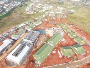 Frail Care Centre Construction progress for Mount Edgecombe Retirement Village, Umhlanga, KZN August 2018